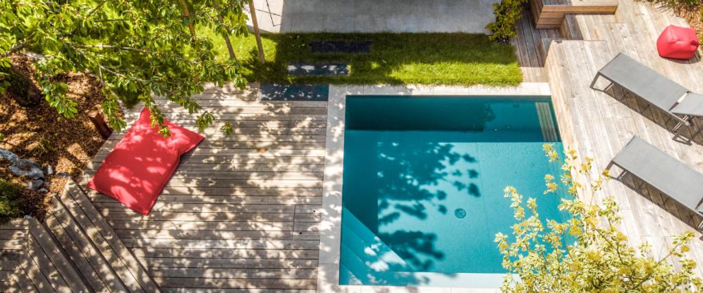 mini piscine carrée